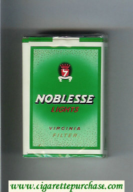Noblesse Lights Virginia Filter green cigarettes soft box
