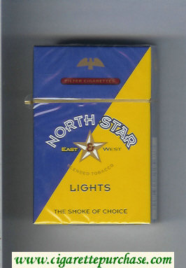 North Star East and West Lights cigarettes hard box