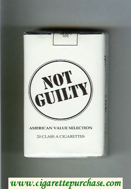 Not Guilty American Value Selection cigarettes soft box