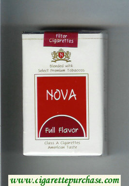 Nova Full Flavor cigarettes soft box