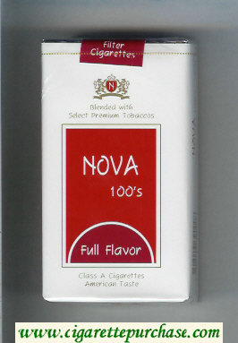 Nova 100s Full Flavor cigarettes soft box