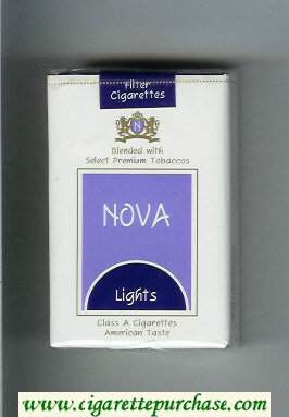Nova Lights cigarettes soft box