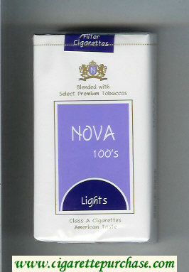 Nova 100s Lights cigarettes soft box