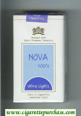 Nova 100s Ultra Lights cigarettes soft box