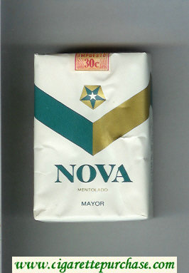 Nova Mentolado Mayor cigarettes soft box