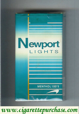 Newport Lights Menthol green and white 100s cigarettes soft box