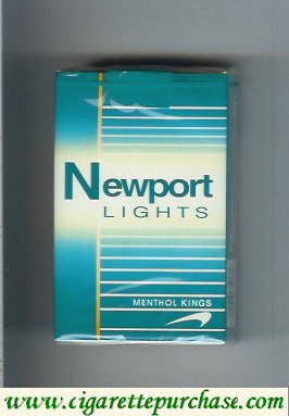 Newport Lights Menthol green and white cigarettes soft box