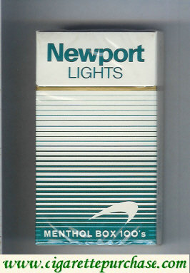 Newport Lights Menthol white and green 100s cigarettes hard box