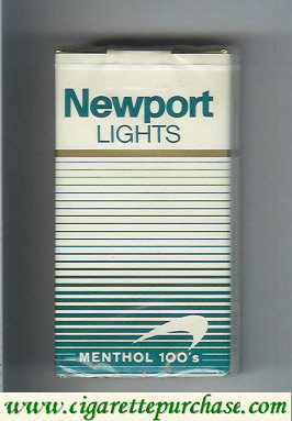 Newport Lights Menthol white and green 100s cigarettes soft box