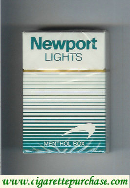 Newport Lights Menthol white and green cigarettes hard box