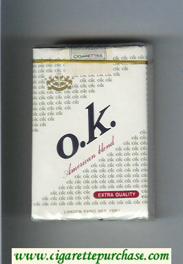 O.K. American Blend Extra Quality cigarettes soft box