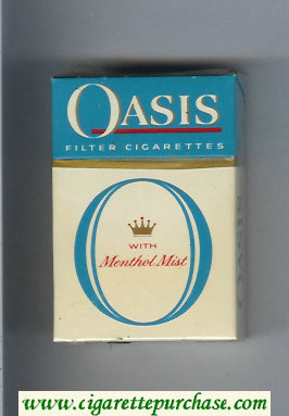 Oasis With Menthol Mist Filter cigarettes hard box