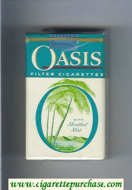Oasis With Menthol Mist Filter cigarettes soft box