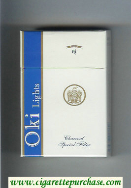 Oki Lights cigarettes hard box