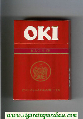 Oki cigarettes hard box