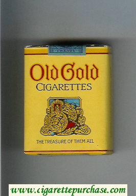 Old Gold cigarettes The Treasure Of Them All soft box