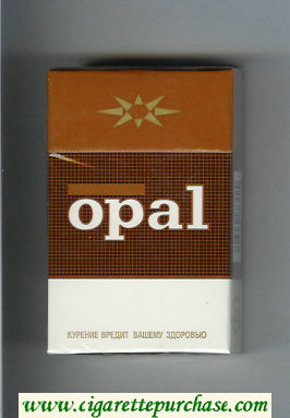Opal Filter brown and white cigarettes hard box