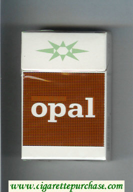 Opal Filter white and brown cigarettes hard box