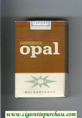 Opal Filter brown and white cigarettes soft box
