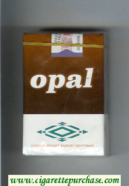 Opal brown and white cigarettes soft box