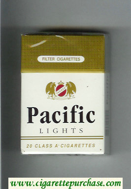Pacific Lights white and gold cigarettes hard box