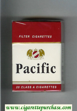 Pacific white and red cigarettes hard box