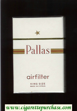 Pallas Airfilter King Size white cigarettes hard box