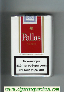 Pallas Filter white and red cigarettes soft box