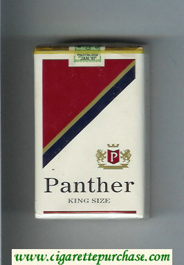 Panther cigarettes soft box