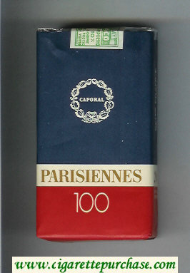 Parisiennes 100s cigarettes soft box