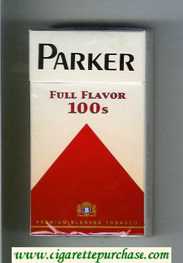 Parker Full Flavor 100s cigarettes hard box