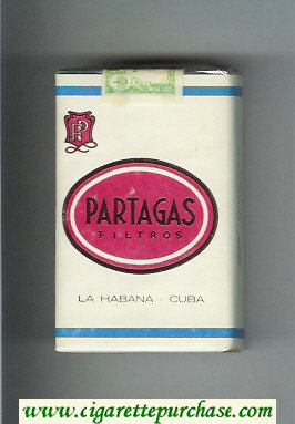 Partagas Filtros white and red cigarettes soft box