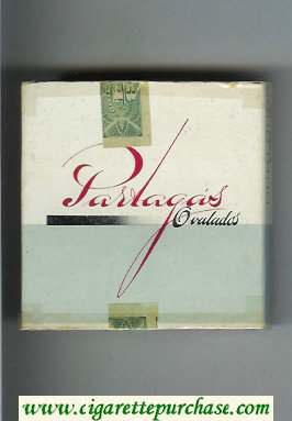Partagas Ovalados white and grey cigarettes wide flat hard box