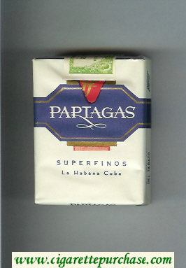 Partagas Superfinos white and blue cigarettes soft box