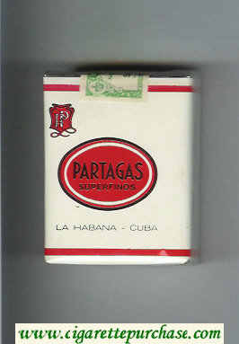 Partagas Superfinos white and red cigarettes soft box