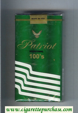 Patriot Menthol 100s cigarettes soft box