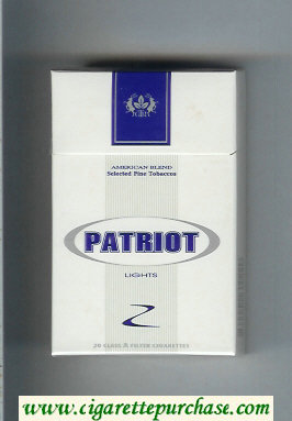 Patriot Lights cigarettes hard box