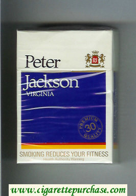 Peter Jackson Virginia 30 cigarettes hard box