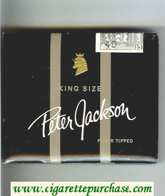 Peter Jackson Filter Tipped King Size 25 cigarettes wide flat hard box
