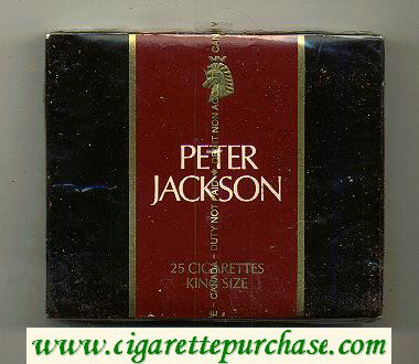 Peter Jackson Filter King Size 25 cigarettes wide flat hard box