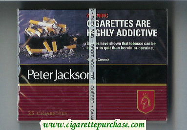 Peter Jackson Filter 25 cigarettes wide flat hard box