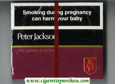 Peter Jackson Filter 25 cigarettes King Size wide flat hard box