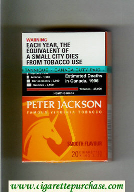Peter Jackson Smooth Flavour cigarettes hard box