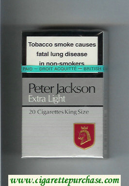 Peter Jackson Extra Light 20 cigarettes King Size hard box
