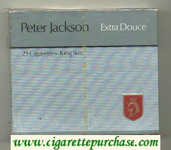 Peter Jackson Extra Douce 25 cigarettes King Size wide flat hard box