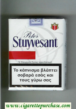 Peter Stuyvesant 25 white and red cigarettes soft box