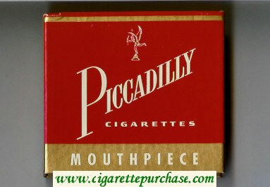 Piccadilly Cigarettes Mouthpiece wide flat hard box