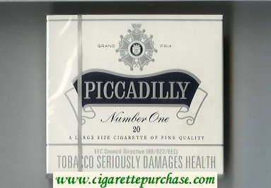 Piccadilly Number One Cigarettes wide flat hard box