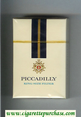 Piccadilly King Size Filter cigarettes hard box