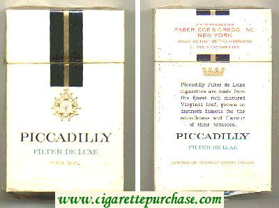 Piccadilly Filter De Luxe cigarettes hard box